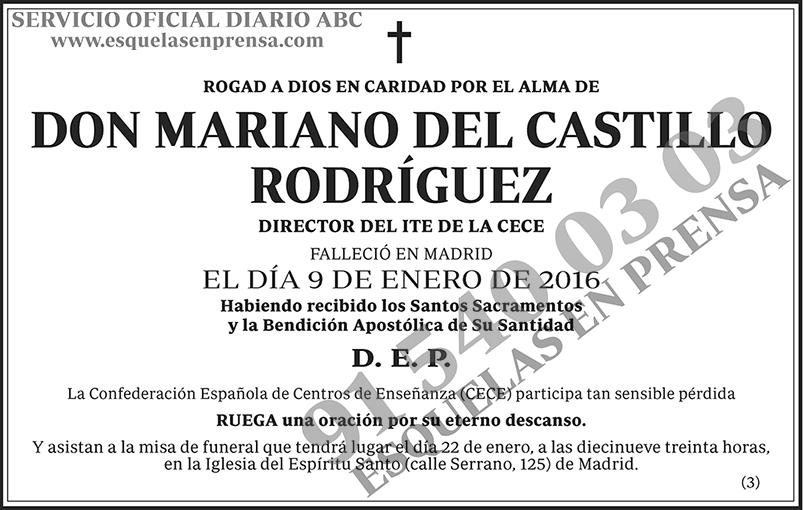 Mariano del Castillo Rodríguez